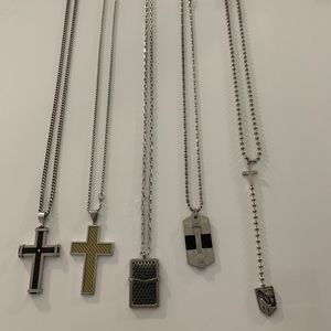 5 Men's Necklace Bundle